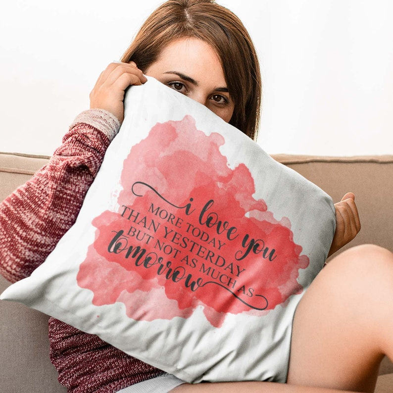 Red and Gray Throw Pillow with Watercolor Background and image 0