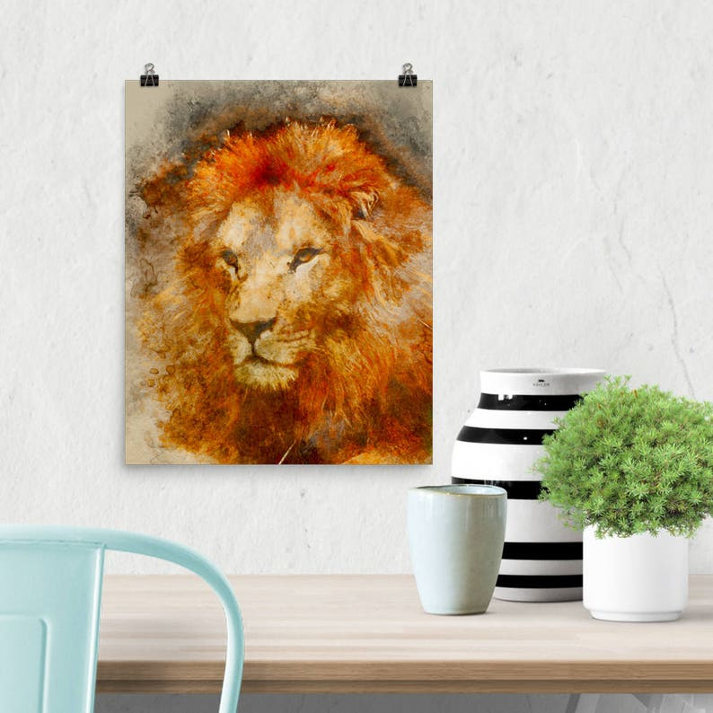 Downloadable Art African Lion Printable Grandfather Father image 0
