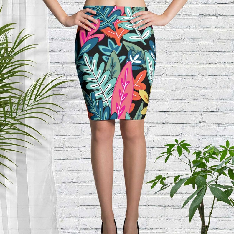 Short Skirt with Tropical Design Summer Party Clothing Extra image 0