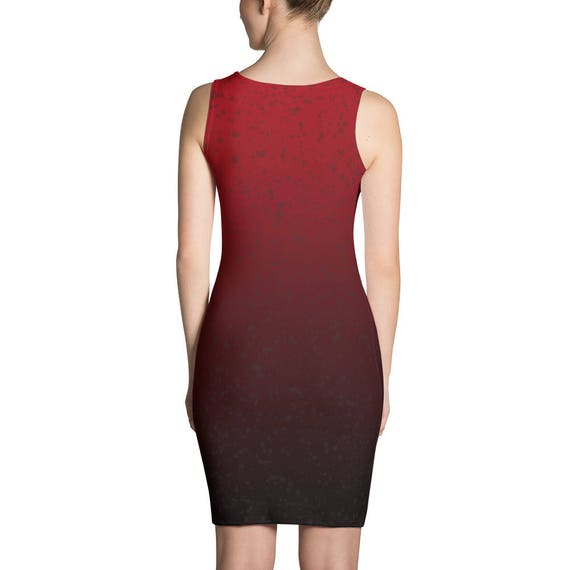 Tight Dress In Red Ombre Clothing For Party Church Wedding Etsy