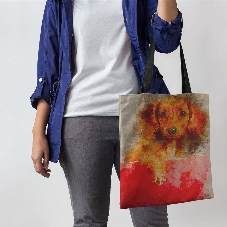 Tote Bag Dachshund Shopping Bag Cute Eco Friendly Gift for image 0