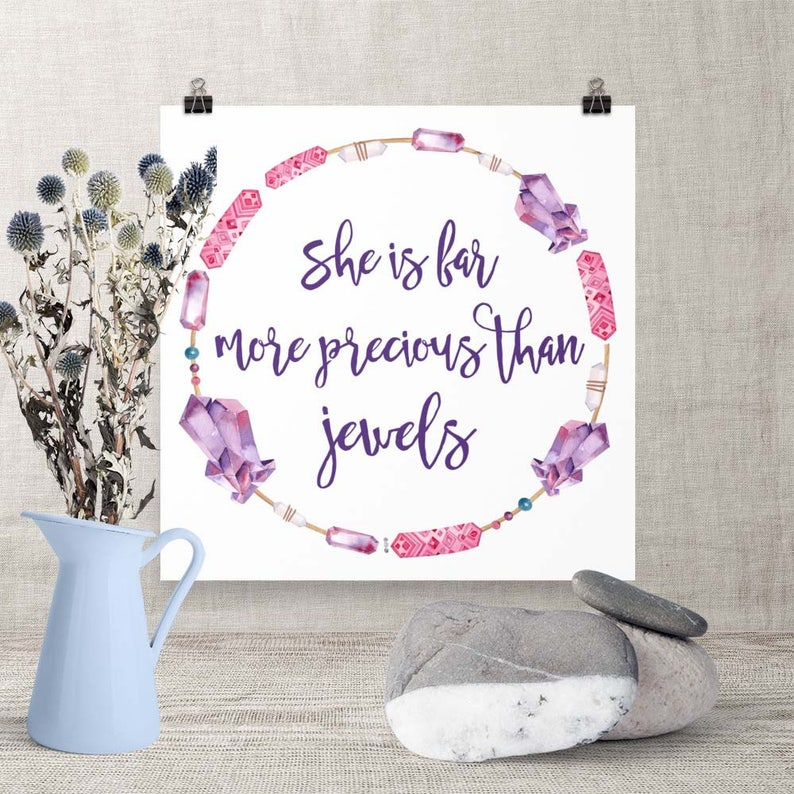 Download Print She is Far more Precious than Jewels Printable image 0