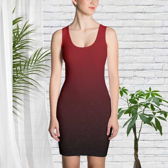 Red Ombre Dress