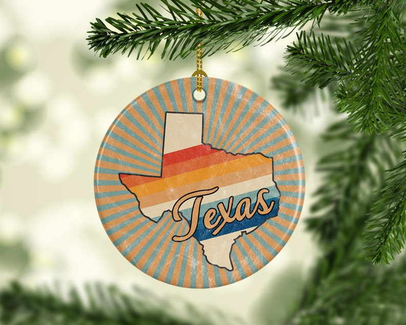 Texas Ornament  American Holiday Keepsake for Him or Her  image 0