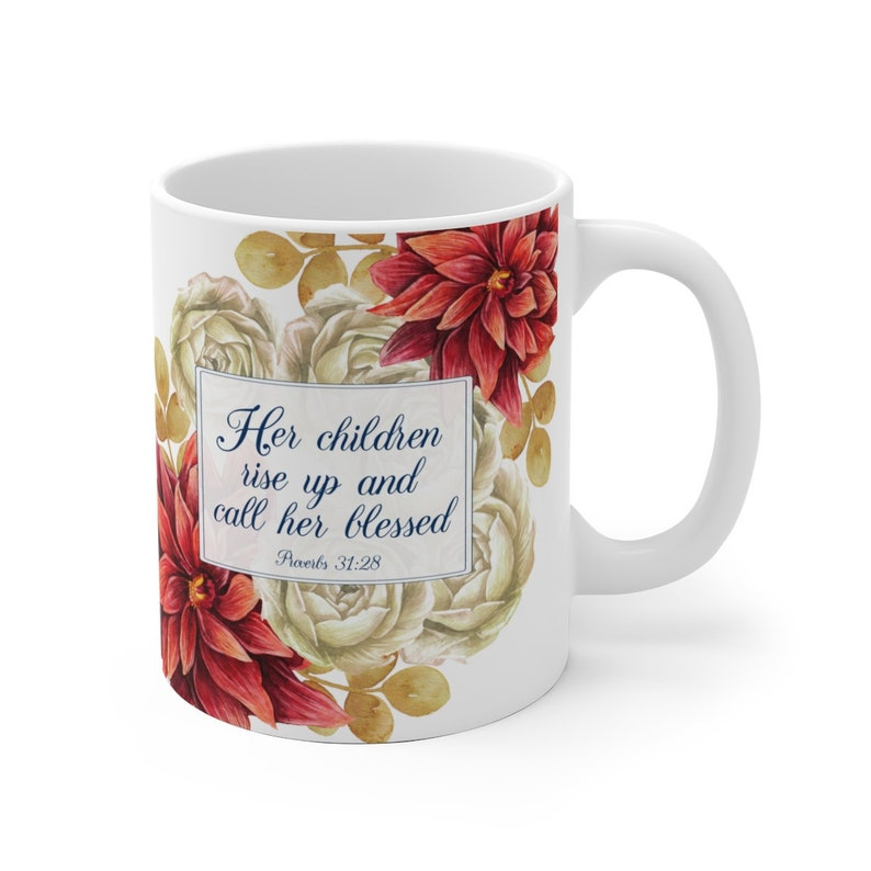 Coffee or Tea Cup For Mothers Day with Bible Verse:  Her image 0