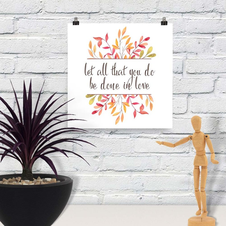 Downloadable Print Let all that You Do Printable Wall Art image 0