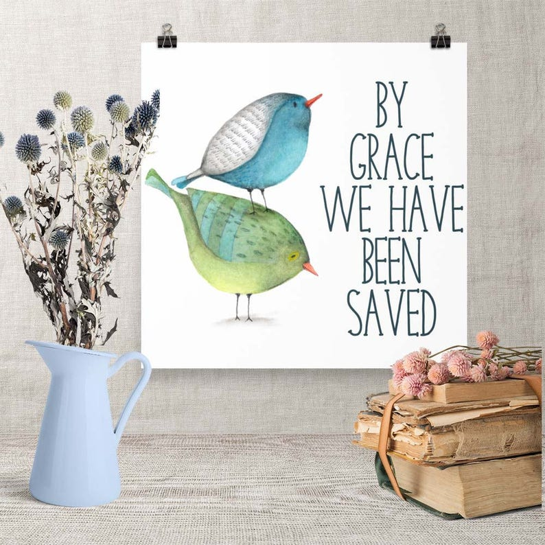 Download Art By Grace We Have Been Saved Printable Christian image 0