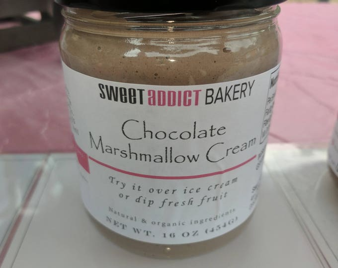CHOCOLATE MARSHMALLOW CREAM - vanilla bean sweetness - smooth and delicious - great for ice cream, fruit, crackers, s'mores and more!