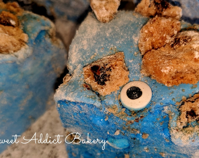 Featured listing image: COOKIE MONSTER gourmet MARSHMALLOWS - fun, festive and flavorful, great party favors - make great smores, put in hot cocoa