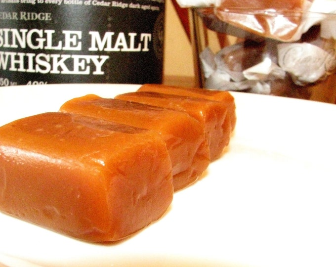 Malt Whiskey Caramels - Great for WEDDING, ENGAGEMENT, PARTY Favors - Groomsmen Gifts, Fathers Day Gifts