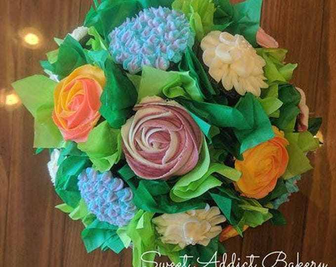 Cupcake Bouquet -Colorado Springs Locals Only (CANNOT BE SHIPPED)- beautiful flower cupcake bouquet- Easter, Mother's Day, Graduation, gifts