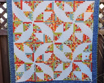 Log Cabin Birds Quilted Wallhanging