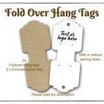 Fold Over Hang Tag, Necklace Hang Card, Jewelry Display, Earring and Necklace Cards, Earring and Necklace Display Foldover Card