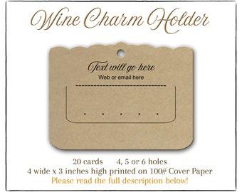 Display Charm Display Stitch Marker Holder Custom Wine Charm Display Wine Glass Charm Holder