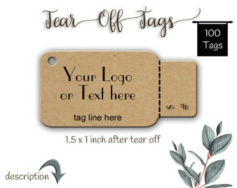 Tags - Perforated Price Tags - Price Tags - Jewelry Tags - Product Tags - Packaging- Jewellery Cards