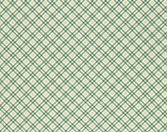 Denyse Schmidt Fabric Yardage, Eastham, Fine Plaid, Juniper, Quilting Weight Cotton, DSQuilts, Green