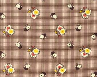 Denyse Schmidt Fabric, Winter Walk Floral Plaid Bark