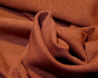 """Solid Ponte Double Knit with Crepe Back Fabric, Harvest Orange Color, Wool/Lycra,  47"""" Inches Wide"""