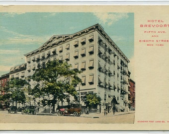 715493618e0 Hotel Brevoort Fifth Avenue New York City NYC NY 1910c postcard