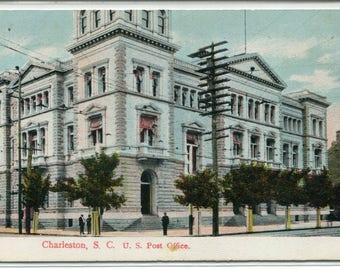 Post Office Charleston South Carolina 1908 postcard