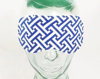 39061ed724638 Masque de sommeil de clé grecque mens oeil masque qui dort masque femmes  cadeaux pour les voyageurs adult sommeil masque oeil couverture sommeil  tissu oeil ...