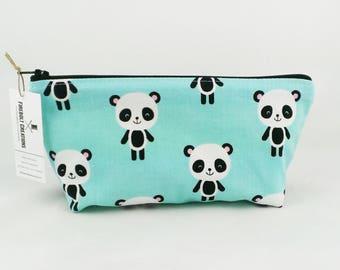 Panda Toiletry Bag small kawaii dopp kit bag makeup organiser panda bear quick shipping travel gift woman make up bag small makeup case cute