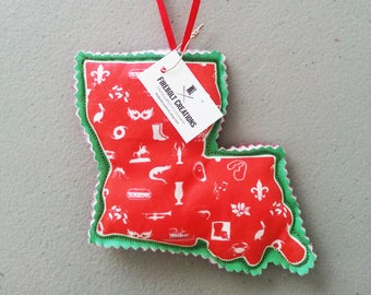 louisiana christmas ornament cajun navy cajun art cajun home decor cajun print nola gift new orleans xmas decor ideas decoration holiday