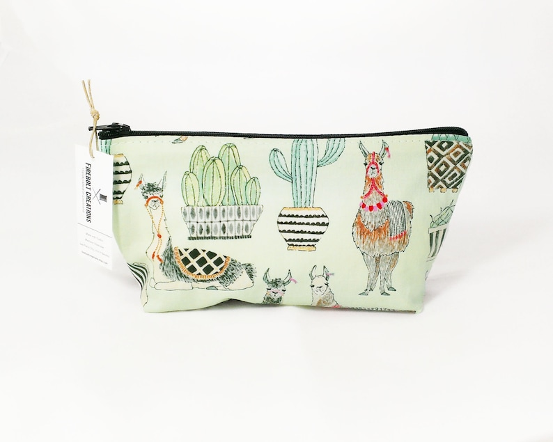 353a5a9d1af0 Llama Toiletry Bag Women Alpaca pencil pouch llama gifts small cosmetic bag  cactus zipper pouch