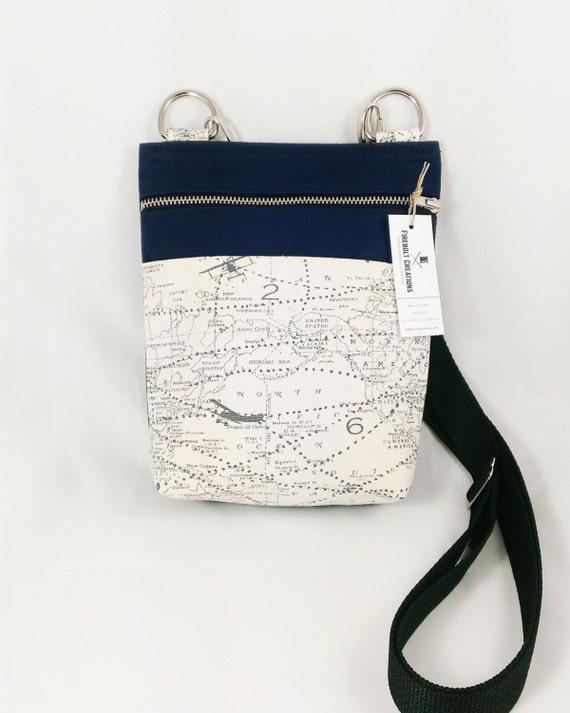 Airplane Purse World Map Crossbody Purse Navy Blue Handbag Etsy