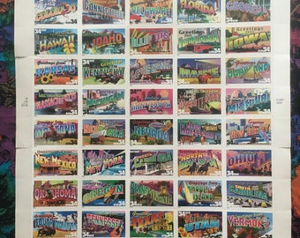 Greetings from America Stamp Sheet Collectors Item