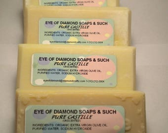 100 percent Organic Handmade Castile Soap 5 oz Bar