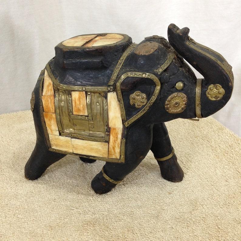 Pier1 Vintage WoodBrass Elephant