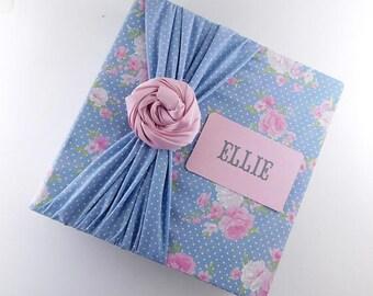 Photo Album Baby Girl Scrapbook Girl Photo Album 8x10 4x6 5x7 Picture Journal Baby Photo Album Pink Blue Flower XTZ