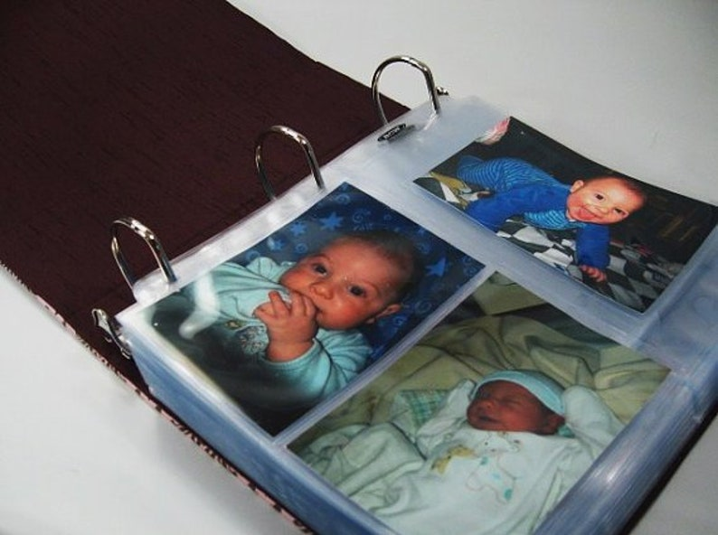Photo Album Baby Picture Book Scrapbook 4x6 5x7 8x10 Journal Personalized Flower Polka Dot Retro Book