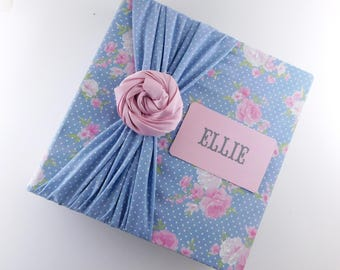 Photo Album Girl Baby Memory Book Mothers Day Gift Baby Book Blue Pink Flower Polka Dot 4x6 5x7 8x10 Picture Scrapbook Floral Pregnancy Book