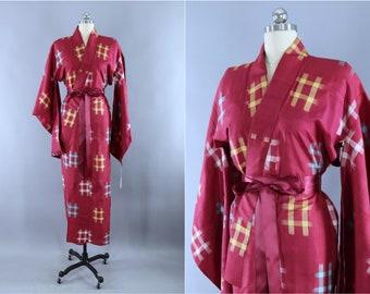 Vintage 1920s silk kimono robe  fa25ba885