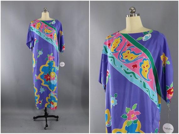 Vintage Caftan Dress, Oscar de la Renta, Montaldo'