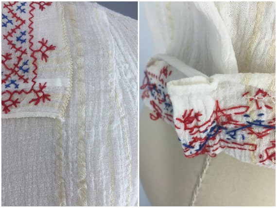 Vintage Peasant Blouse, 1920s Hungarian Embroider… - image 5