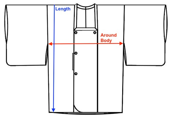 Vintage Silk Kimono Coat, Short Robe, Duster Jack… - image 9