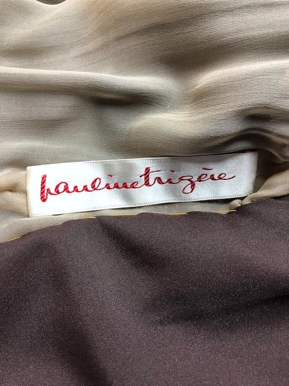 Vintage Formal Dress, Pauline Trigere, Mocha Brow… - image 8