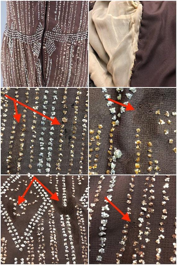 Vintage Formal Dress, Pauline Trigere, Mocha Brow… - image 9