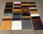 Variety Package of 40 Leather Cowhide Swatches. DD1166