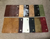 Package of 12 Leather Cowhide Swatches. DD1165