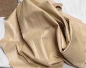Napa Beige Lambskin Leather Hides UL15