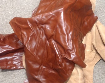 CLFE54.  Russet Brown Leather Cowhide