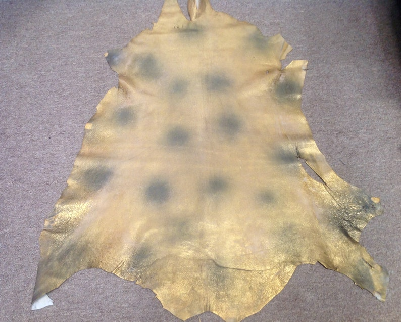 Antique Gold Distressed leather Lambskin #SHRM1027