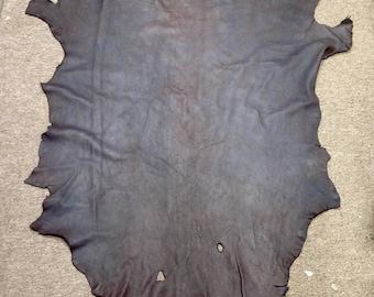 Distressed brown with purple haze leather deerskin TOWN1