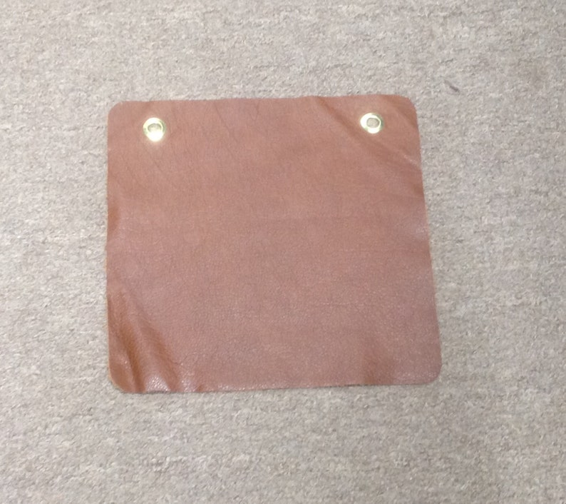 #AB569 Cognac package of 4 leather cowhide swatches