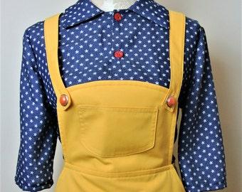 Vintage inspired yellow pinafore skirt