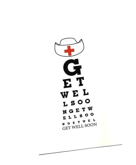 Eye Chart Cardt Well Sooneye Charteye Chart Cardeye Etsy